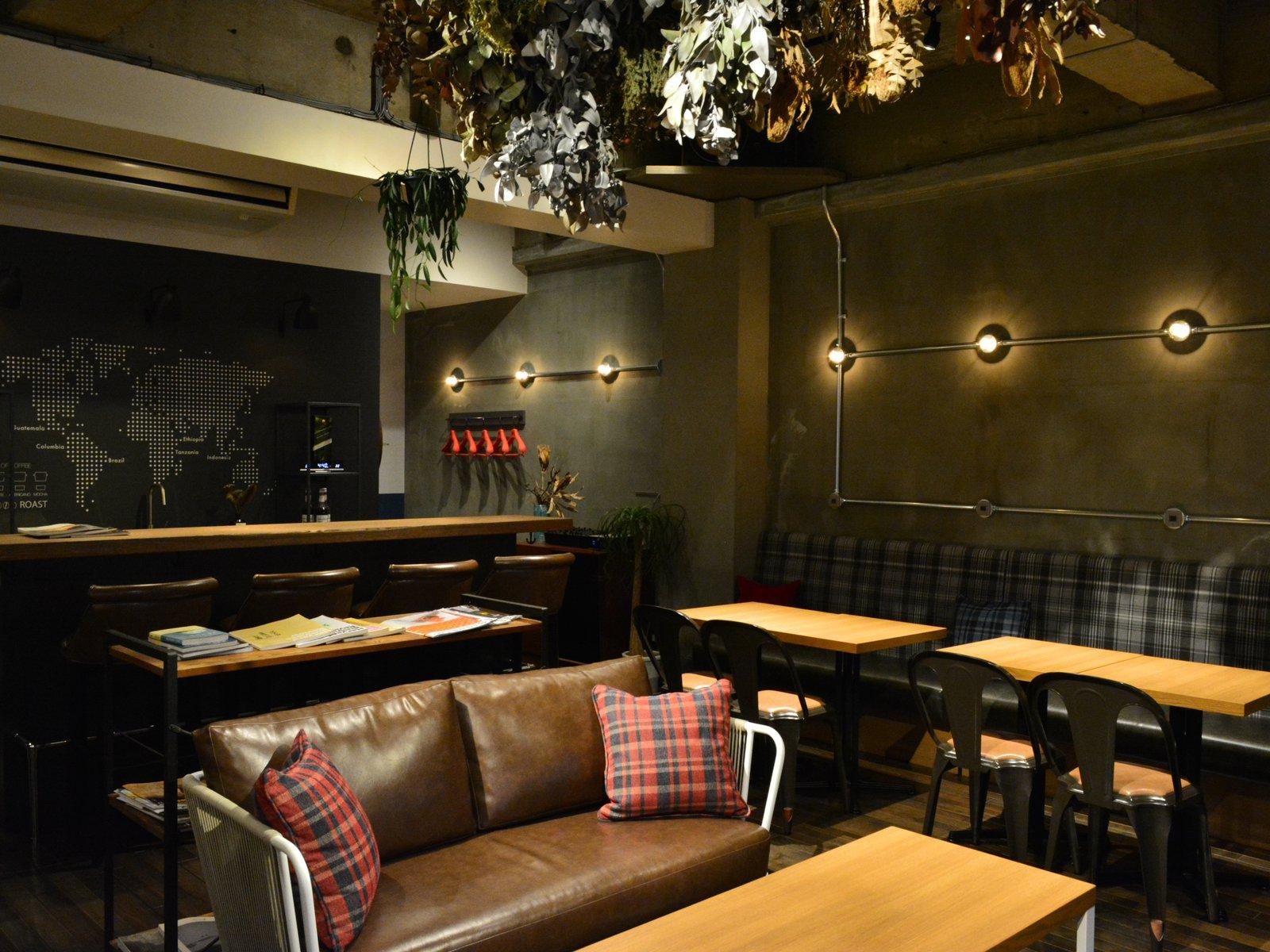 官公庁エリアのカフェスペース