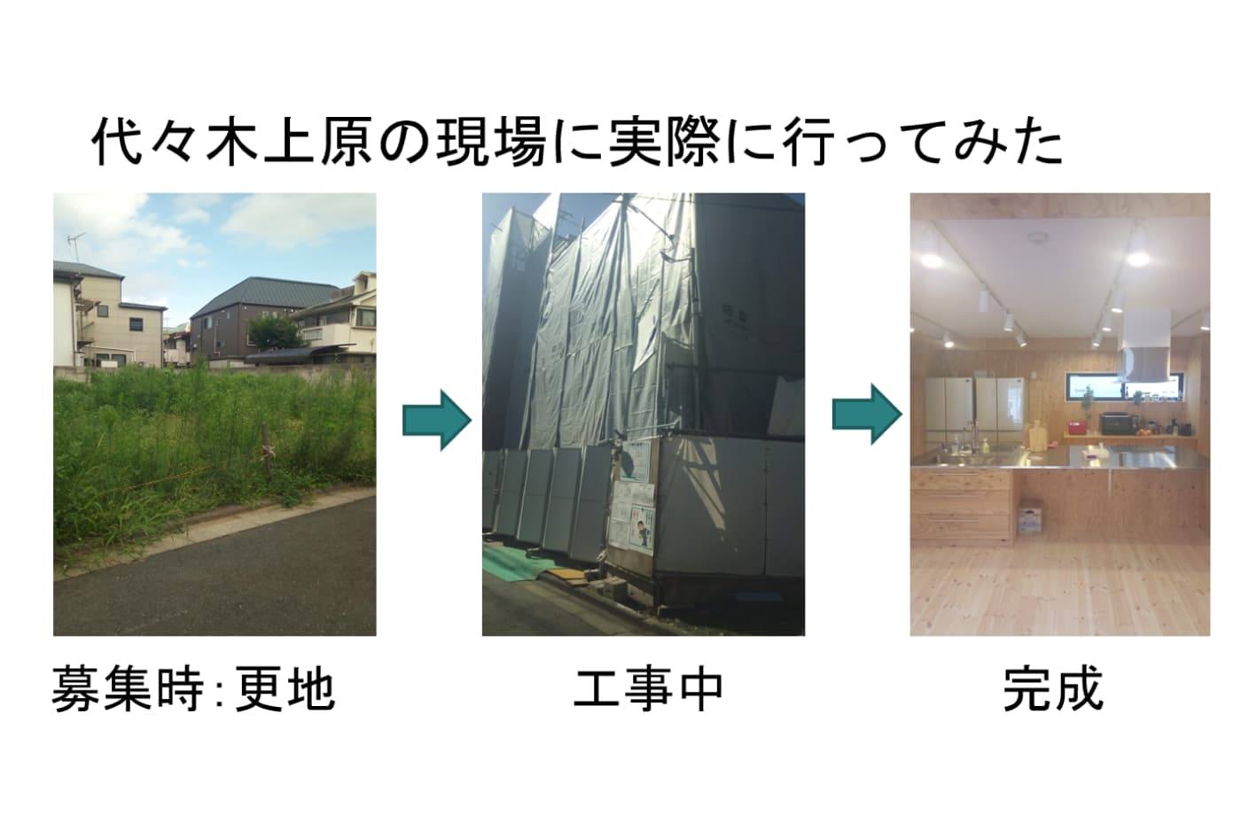 Kさんが「渋谷区上原シェア保育園」プロジェクトの現地に通い撮影した写真