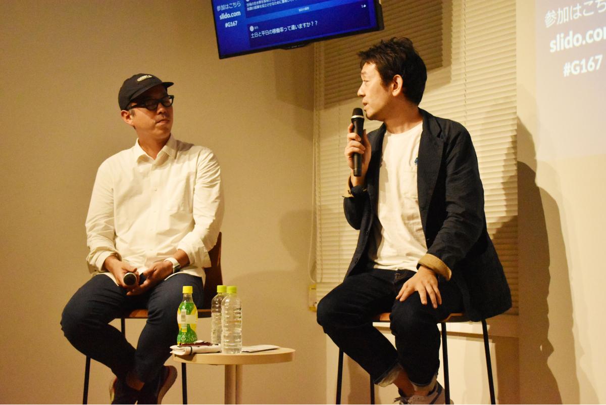 佐別当氏(左)に質問を投げかける林氏
